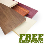 Exotic Lumber Project Packs, Birdseye Maple, Curly Maple (Tiger Maple)
