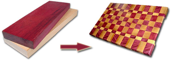 End Grain Wood Cutting Board Plans