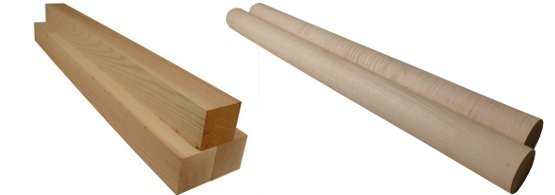 Baseball Bat Wood Blanks | Birdseye Maple, Curly Maple