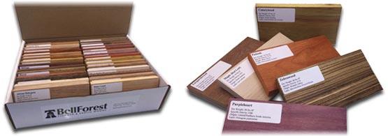 Exotic Wood Sample Packs 30 Exotic Wood Samples Bell