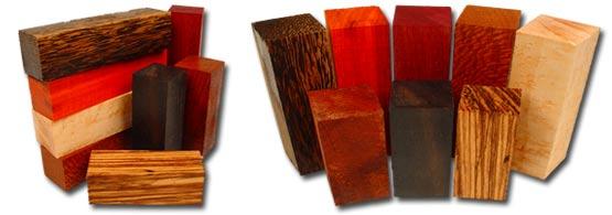 Short Exotic Wood Blanks | Exotic Wood, Birdseye Maple, Curly Maple